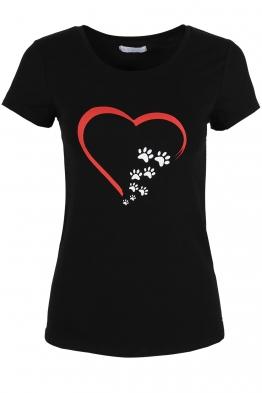 Дамска тениска LOVE IS ME черна