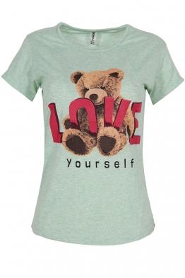 Дамска тениска LOVE YOURSELF резида