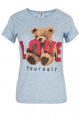 Дамска тениска LOVE YOURSELF синя