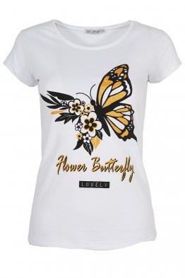 Дамска тениска LOVELY бяла