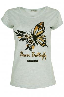 Дамска тениска LOVELY резида