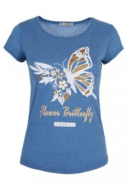 Дамска тениска LOVELY синя