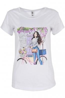 Дамска тениска MAILS бяла