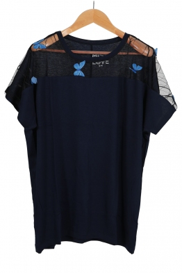 Дамска тениска MISS LOVE тъмно синя