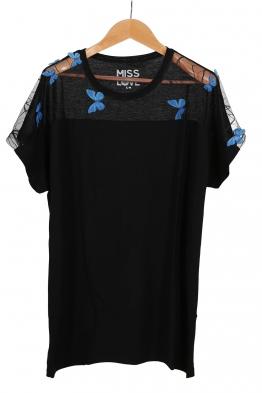 Дамска тениска MISS LOVE черна