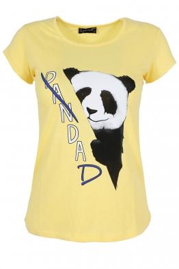 Дамска тениска PANDA  жълта