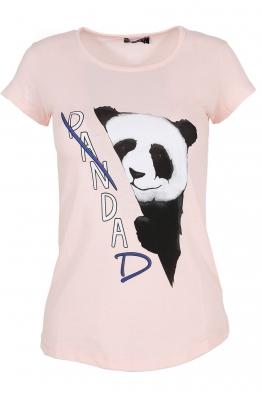 Дамска тениска PANDA  розова