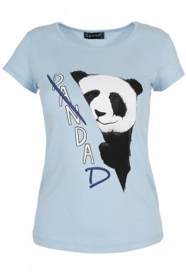 Дамска тениска PANDA  синя