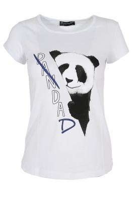 Дамска тениска PANDA бяла