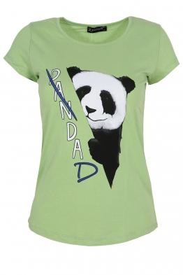 Дамска тениска PANDA зелена