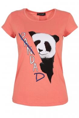 Дамска тениска PANDA корал