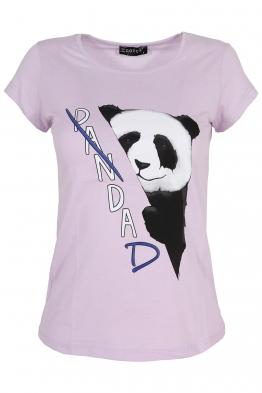 Дамска тениска PANDA лилава