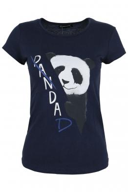 Дамска тениска PANDA тъмно синя