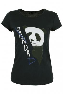 Дамска тениска PANDA черна
