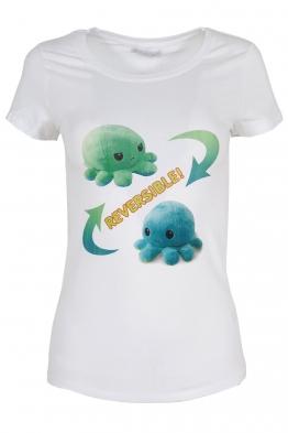 Дамска тениска REVERSIBLE бяла