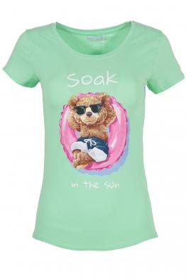 Дамска тениска SOAK IN THE SUN резида