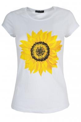 Дамска тениска SUNFLOWER бяла