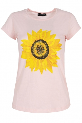 Дамска тениска SUNFLOWER розова