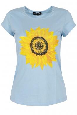 Дамска тениска SUNFLOWER синя