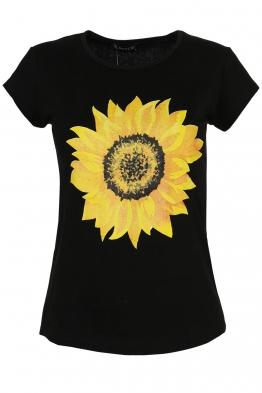 Дамска тениска SUNFLOWER черна