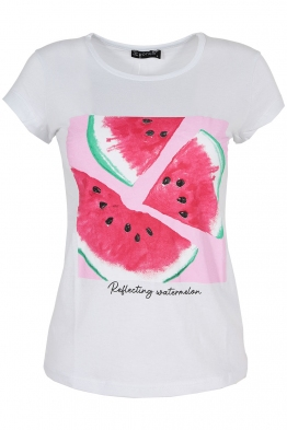 Дамска тениска WATERMELON бяла