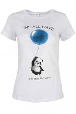 Дамска тениска WE ALL HAVE бяла
