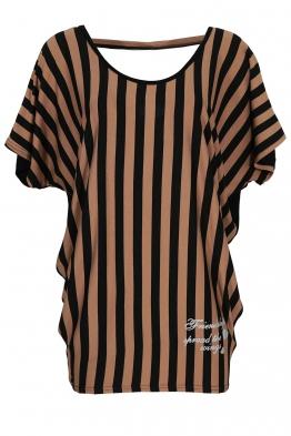 Дамска блуза 21210 капучино райе