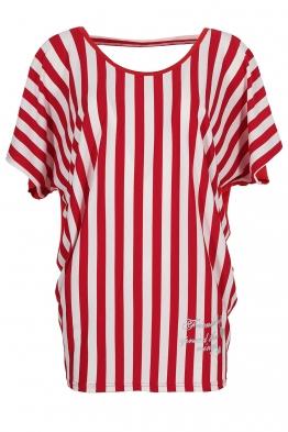 Дамска блуза 21210 червено райе