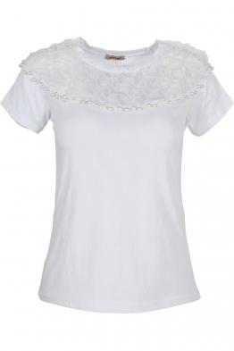 Дамска тениска ЕЛЕНА  бяла
