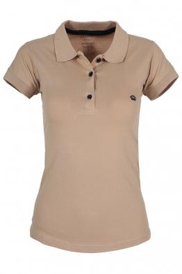 Дамска тениска МОР с якичка бежова