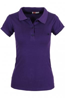 Дамска тениска МОР с якичка тъмно лилава