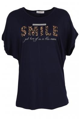 Дамска тениска 20502 тъмно синя