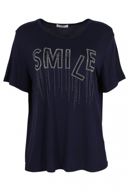 Дамска тениска 20532 тъмно синя
