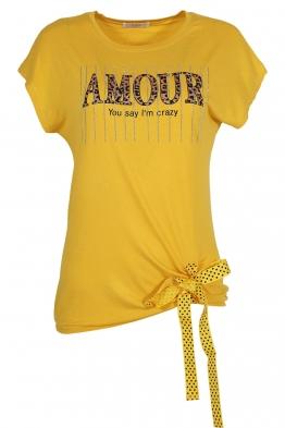 Дамска тениска 20535 жълта