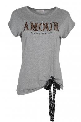 Дамска тениска 20535 сива