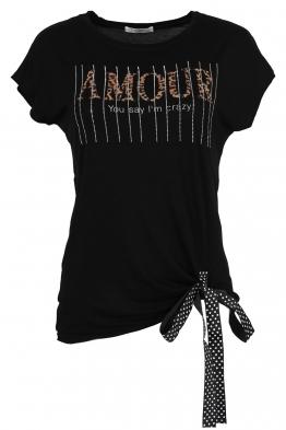 Дамска тениска 20535 черна