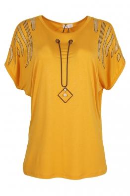 Дамска тениска 21202 жълта