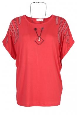 Дамска тениска 21202 корал