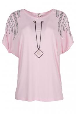 Дамска тениска 21202 розова