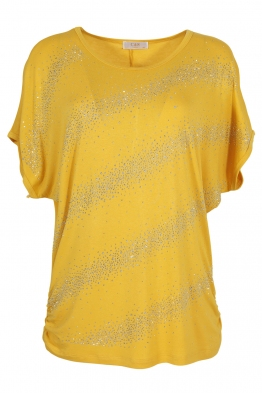 Дамска тениска 21608 жълта
