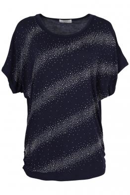 Дамска тениска 21608 тъмно синя
