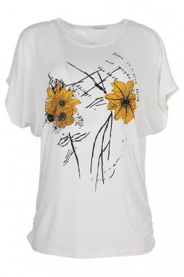 Дамска тениска 21653 бяла