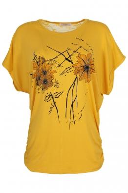 Дамска тениска 21653 жълта