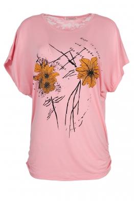 Дамска тениска 21653 розова