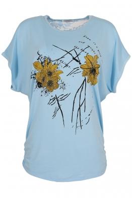 Дамска тениска 21653 светло синя