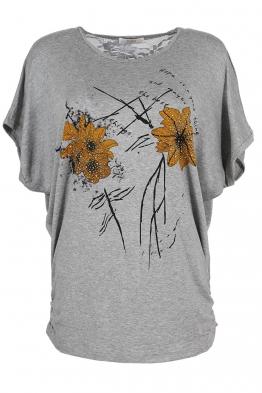 Дамска тениска 21653 сива