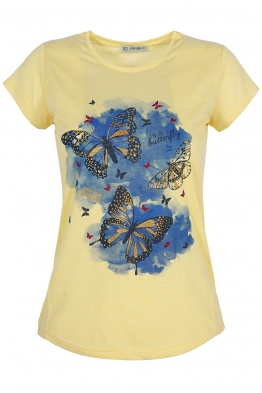 Дамска тениска AVGUSTA жълта