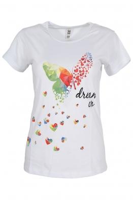 Дамска тениска DREAM ON бяла