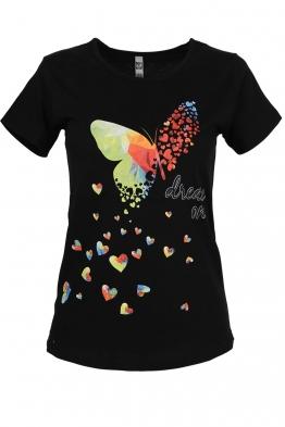 Дамска тениска DREAM ON черна