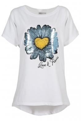 Дамска тениска SILVER DAISY бяла